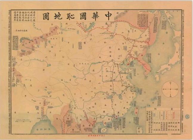 1916年版《中华国耻地图》