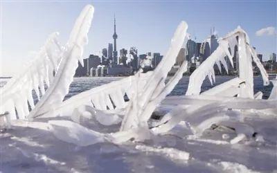 资料照片:这是冰封下的加拿大城市多伦多。受低温天气影响,加拿大发布了极度严寒预警。新华社发(邹峥摄)