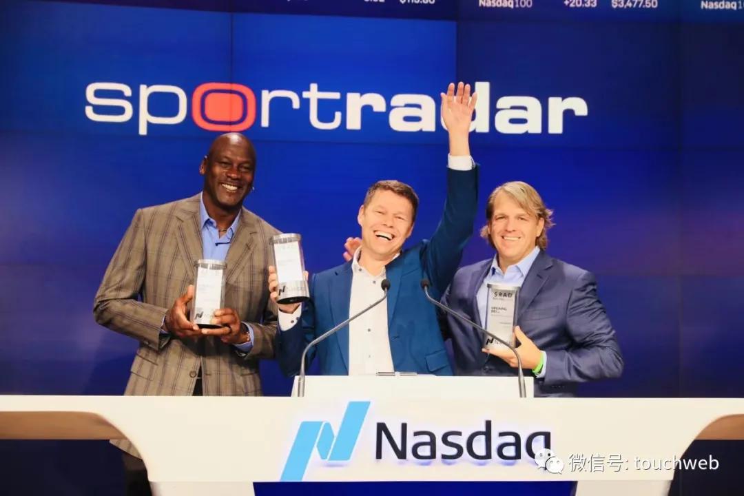 《【超越娱乐平台怎么注册】Sportradar纳斯达克上市:市值近80亿美元 篮球巨星乔丹敲钟》