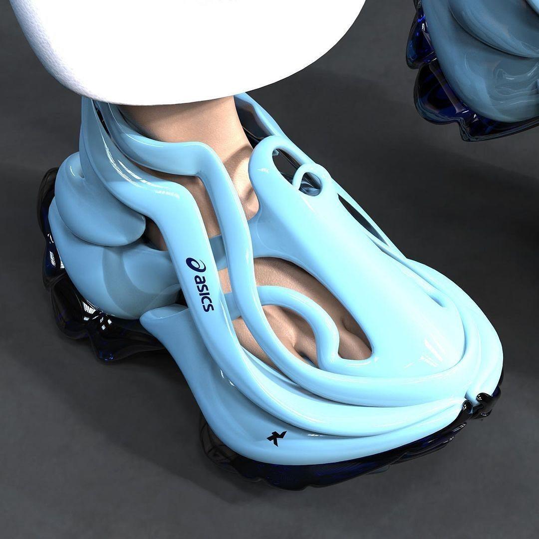 法国设计师 KACIMI Latamène 设计的 Asics 概念球鞋
