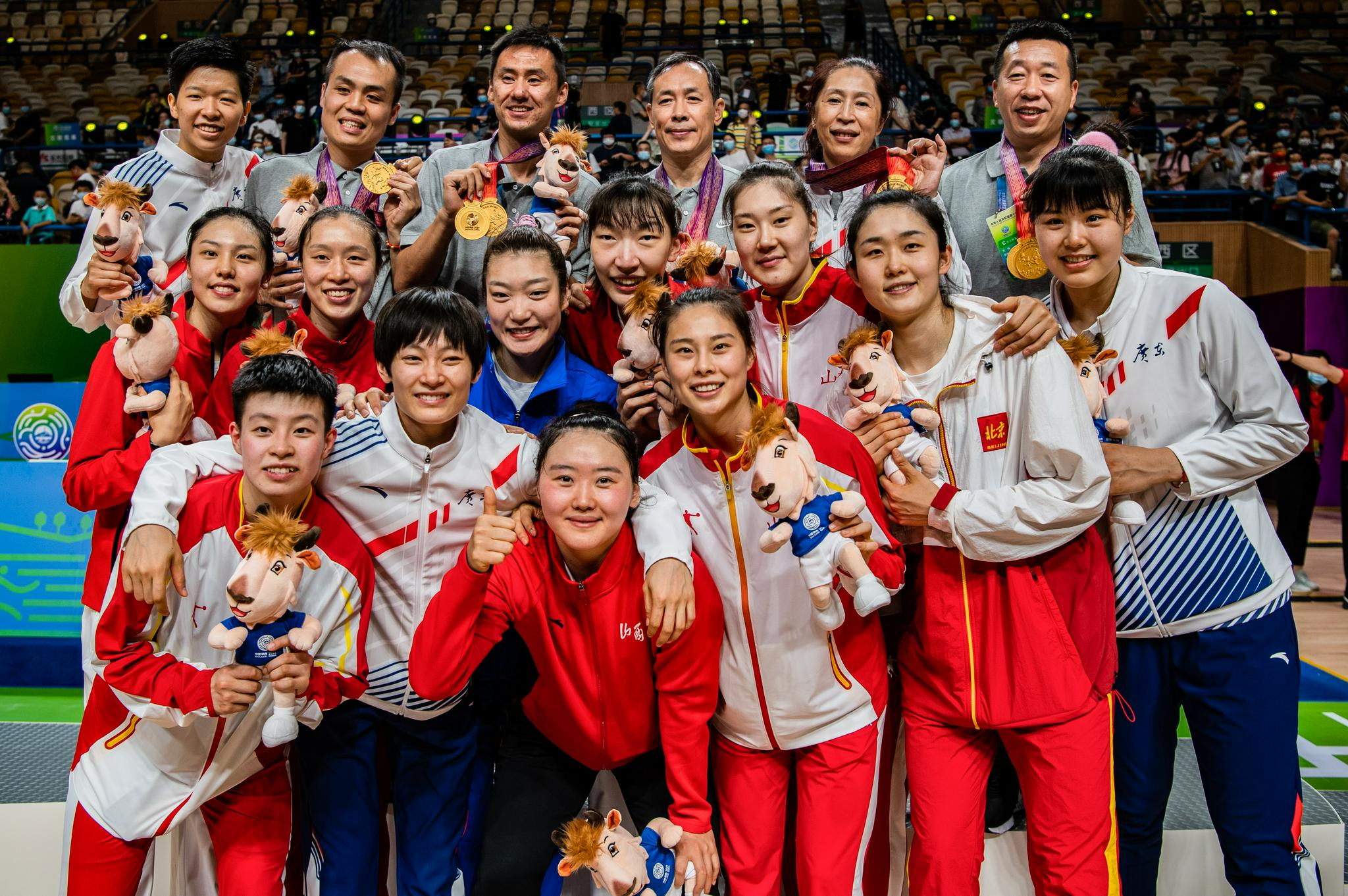The women's basketball team won the gold.