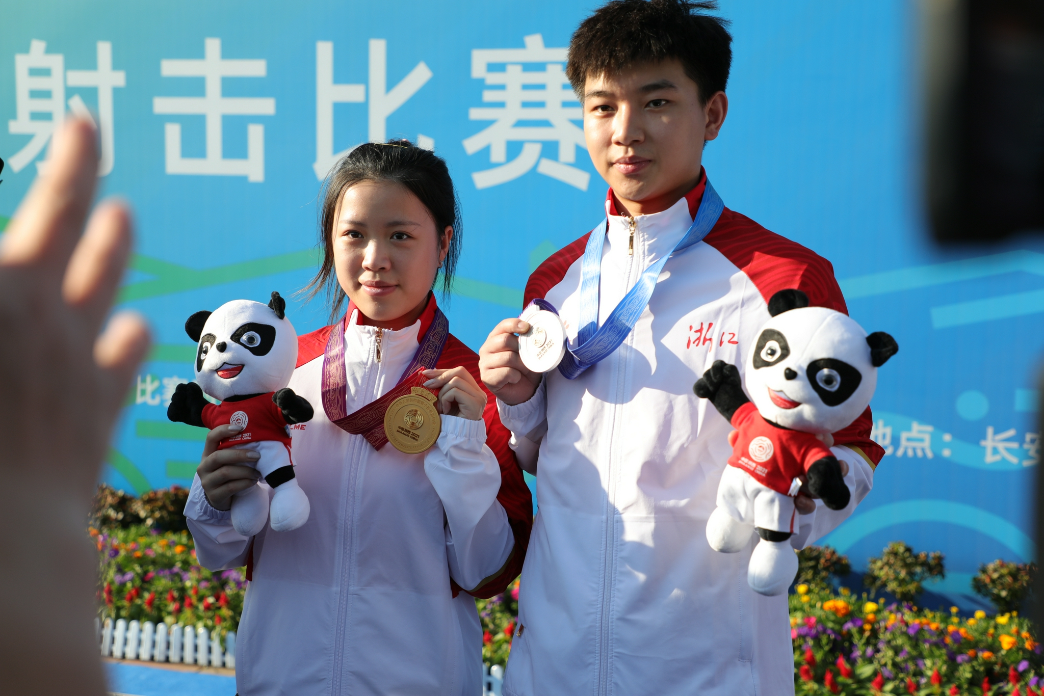 The combination of Yang Qian and Yang Haoran won gold in the National Games.
