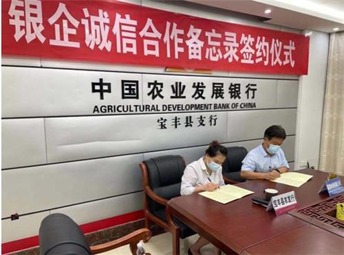 农发行宝丰县支行和贷款企业签订《银企诚信合作备忘录》