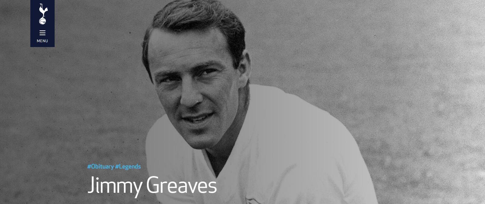 英格兰传奇射手吉米-格里夫斯去世
