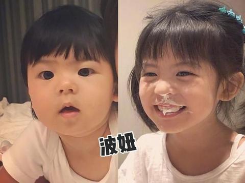 """贾静雯小女儿长大了,颜值""""逆袭""""姐姐?大女儿合影位置引发讨论"""