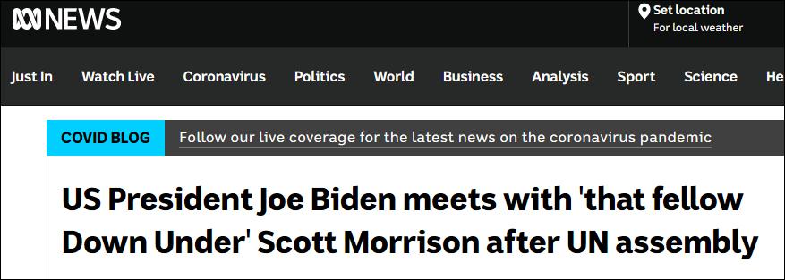 澳大利亚广播公司报道截图