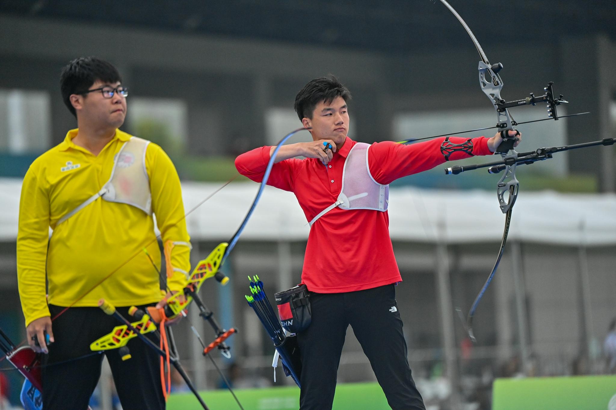 射箭——男子反曲弓个人决赛:吉林队选手魏绍轩夺冠