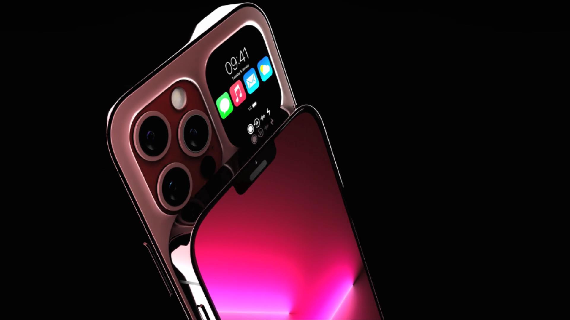 iPhone14Pro渲染图:OLED副屏+30W快充,新增樱花粉配色很吸睛