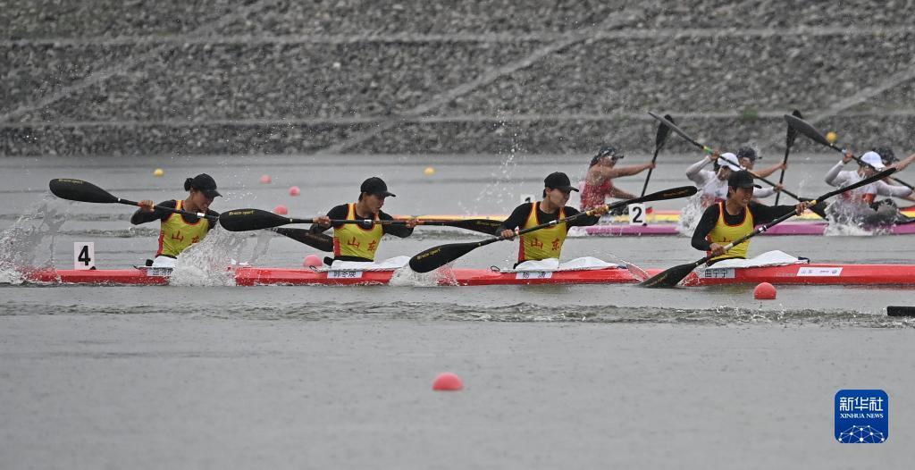 全运会-皮划艇静水女子500米四人皮艇决赛:联合队获得冠军