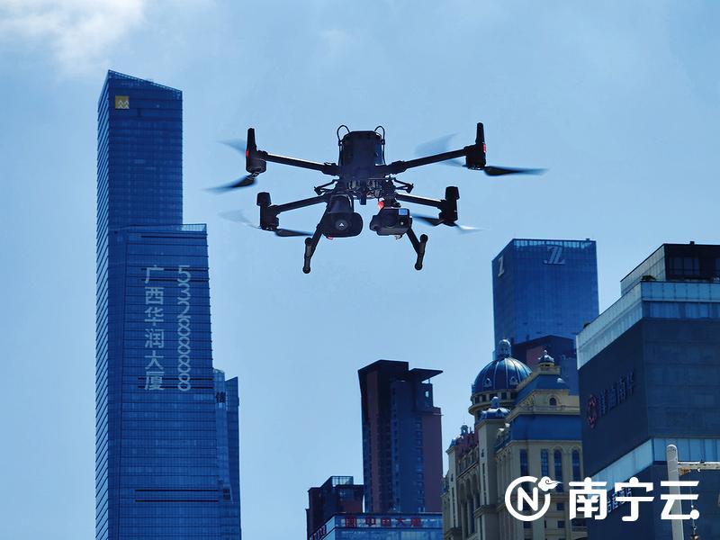 南湖公安分局引进科技警用装备 无人机空中巡逻 守护平安南宁
