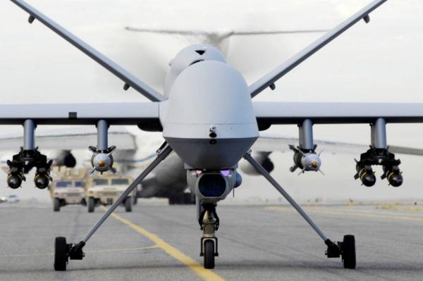 MQ-9B察打一体无人机可携带多种精确制导弹药。