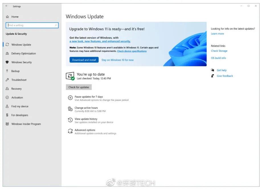 微软从Windows 10免费升级到Windows 11的计划现在已经展开……