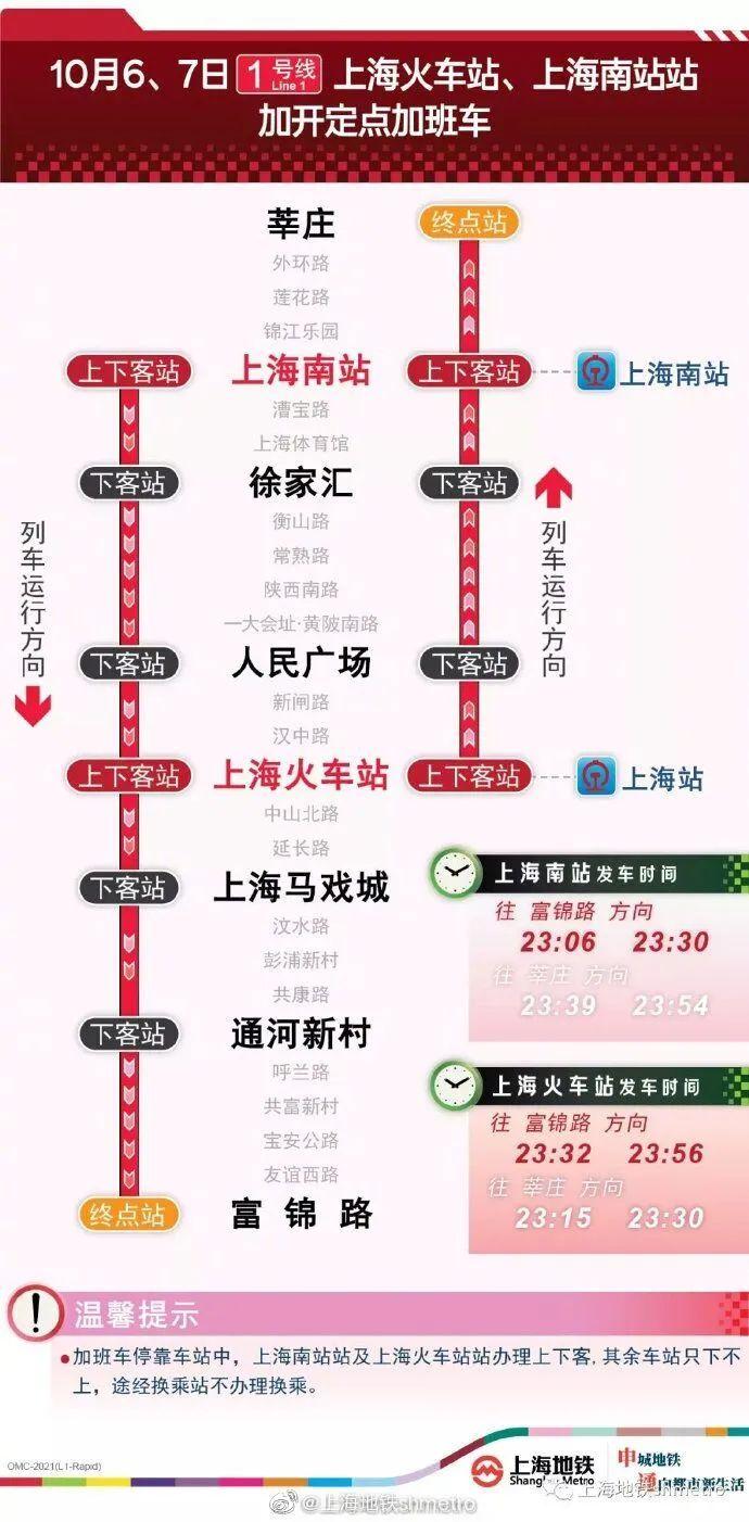 晚归不愁!今明两晚,地铁1、2、10号线将加开定点加班车