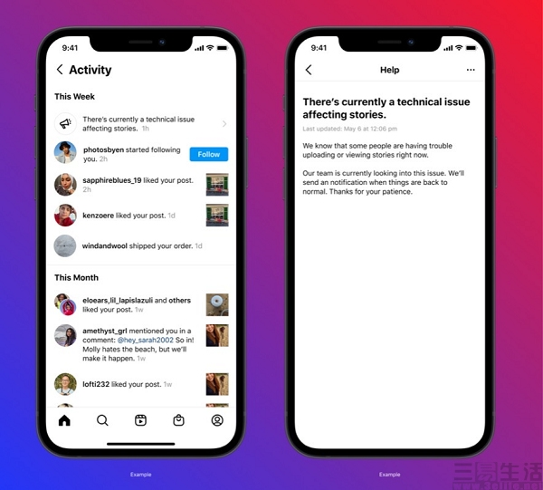 Instagram正在测试新功能,为用户提供故障提示