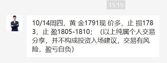 【天富娱乐代理分红】王杨:黄金日内干多两连胜,欧盘1790上直接多!
