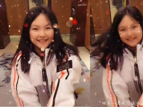 12岁王诗龄暴瘦成小V脸!穿运动装美成女主范,笑容甜美比初恋甜