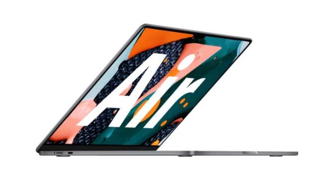 苹果 MacBook Air 最新爆料:M2 芯片、非锥形设计,多彩颜色等