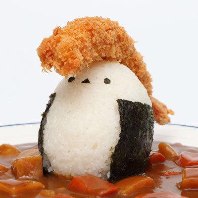 Twitter网友daily_simaenaga制作的动物饭团……