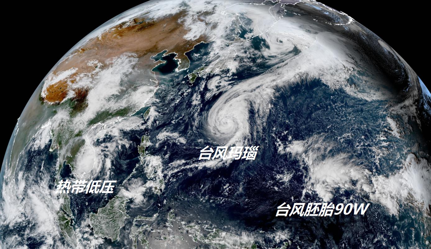 台风玛瑙大开巨型风眼,能装进整个东京!狂风暴雨已对准日本群岛