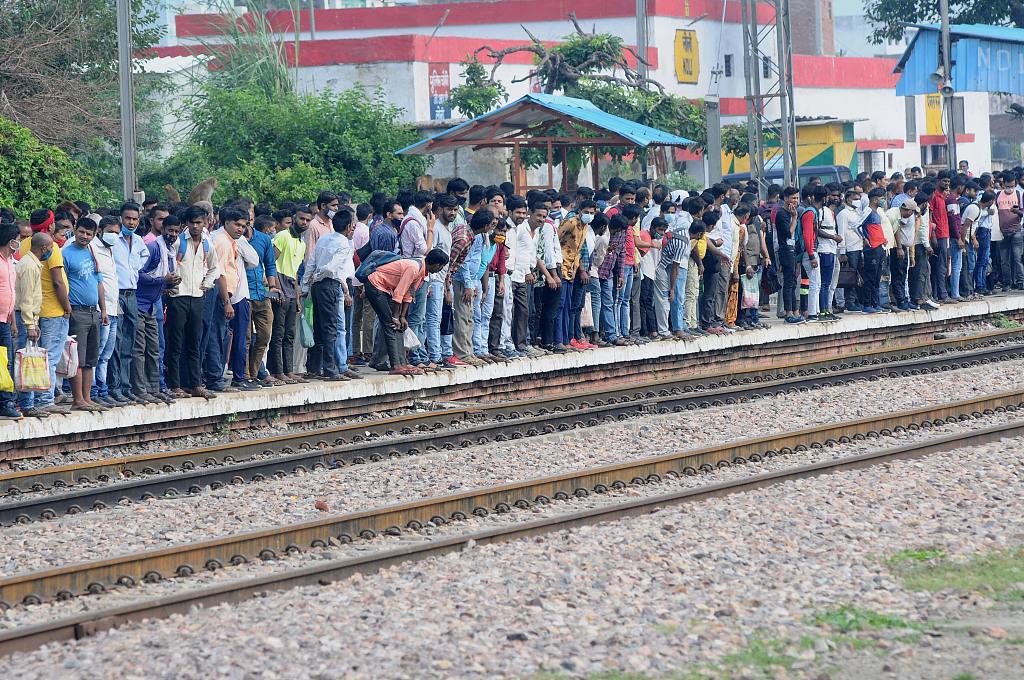 """印度北方邦上千名失业者立""""血书""""  要求解决就业"""