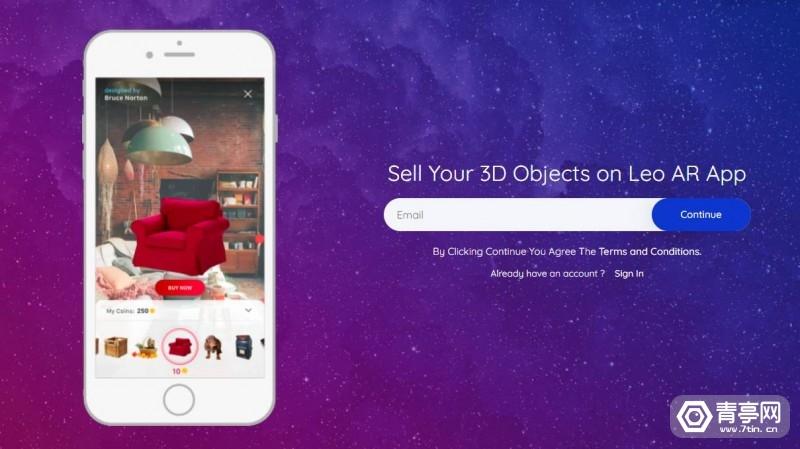 AR应用《Leo AR》推出移动端3D AR控件交易平台