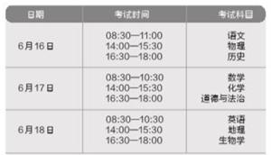 云南省2021年初中学生学业水平考试调整,将于6月16日至20日举行