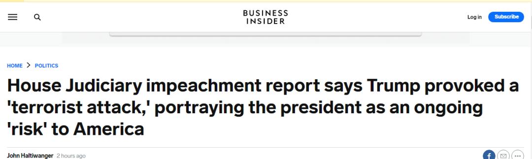 """今天,他们发出弹劾报告,要防特朗普""""未来恶行""""!"""