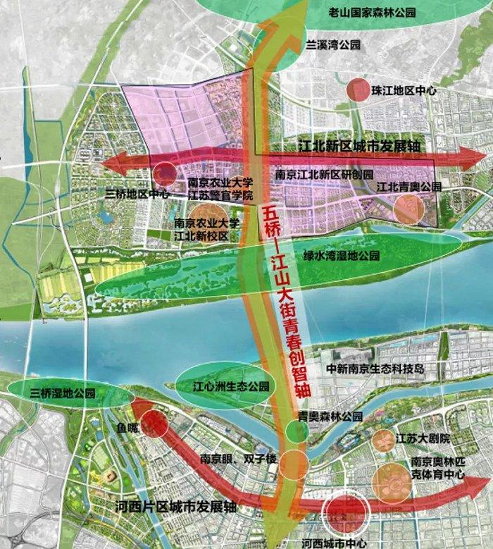 图源:南京江北新区五桥沿线地区城市设计及控规调整