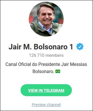 博索纳罗Telegram认证账号截图