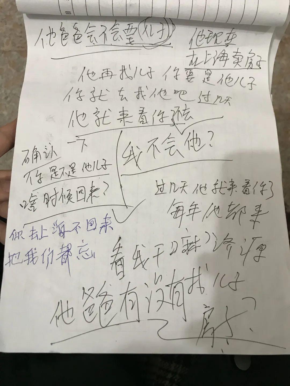 韩全新和家人沟通的对话本。新京报记者 张惠兰 摄