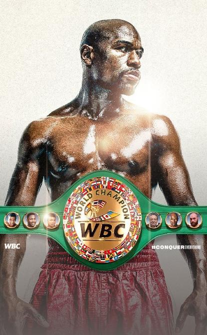 WBC宣布将梅威瑟头像印在金腰带上