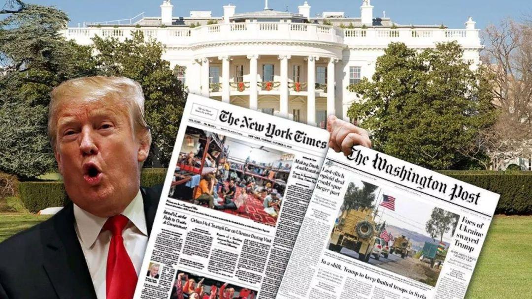 特朗普说不想再看《纽约时报》和《华盛顿邮报》。图源:福克斯新闻网