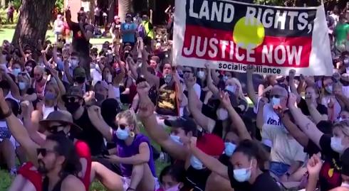 抗议现场 视频截图