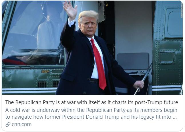 """共和党正在与自己交战。</p><p>  参议员保罗:这场投票结束了审判</p><p>  虽然动议被否决,这意味着,人数显然是不够的,而建制派正在衰落。</p><p>  CNN撰文指出,共和党人正在探索如何将特朗普及其政治遗产融合进共和党的未来之中。因此,仅有5名共和党人""""反水""""支持弹劾,特朗普极有可能不会被定罪。</p><img src="""