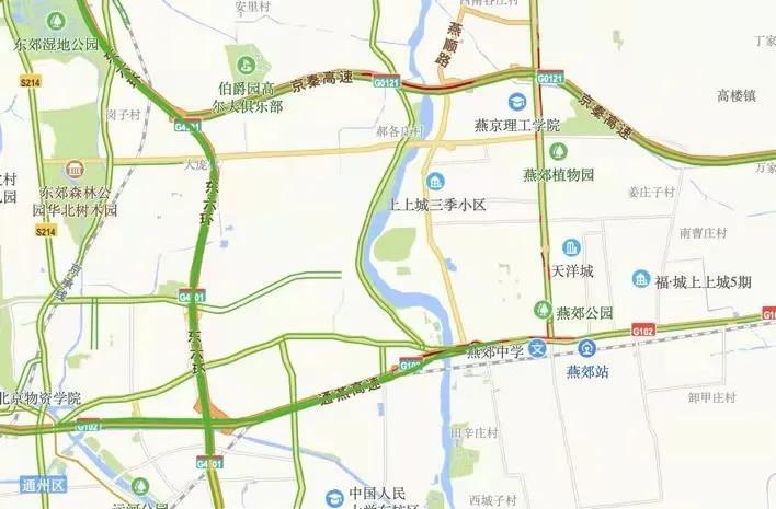 今天早高峰,通燕高速进京检查站、京秦高速进京检查站前道路拥堵主要。图/首发高速出走网
