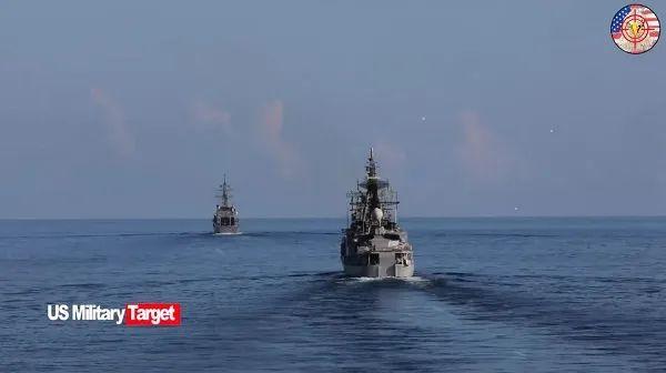 美国海军在西太平洋组织演习 图片来源:视频截图