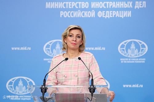 俄外交部发言人扎哈罗娃(资料图),图自:澎湃影像