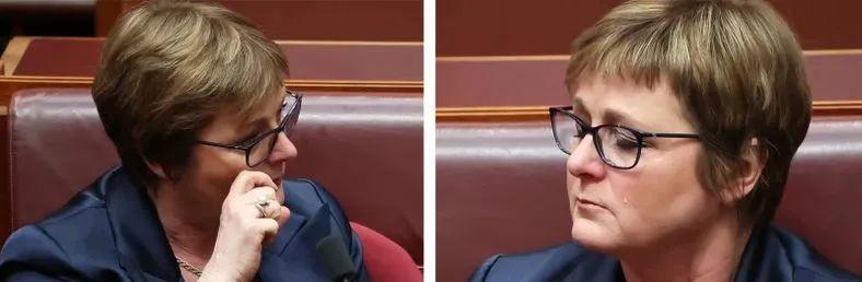 雷诺兹在议会上留下眼泪社交媒体图