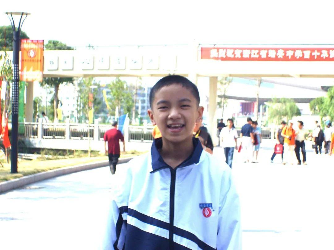 陈杲中学时的照片