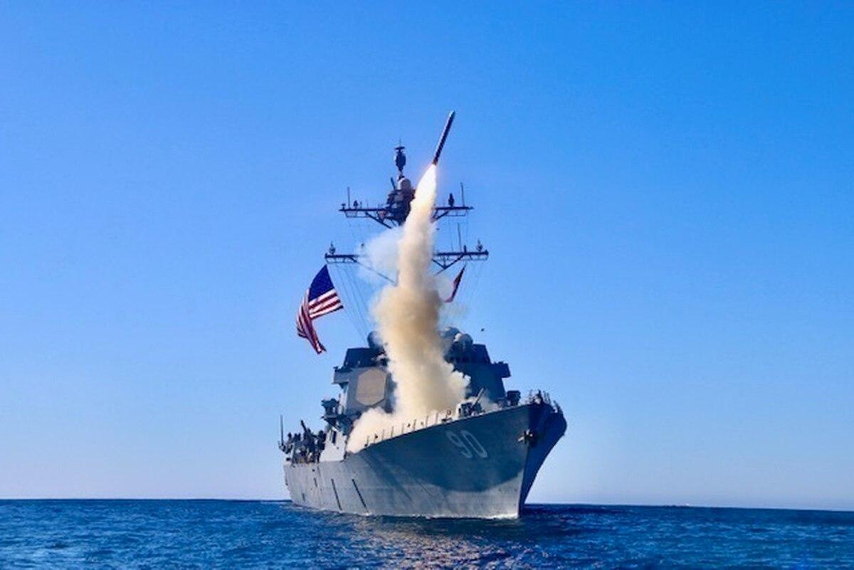 """""""战斧""""导弹要求在多种作战平台上搭载 图片来源:维基百科"""