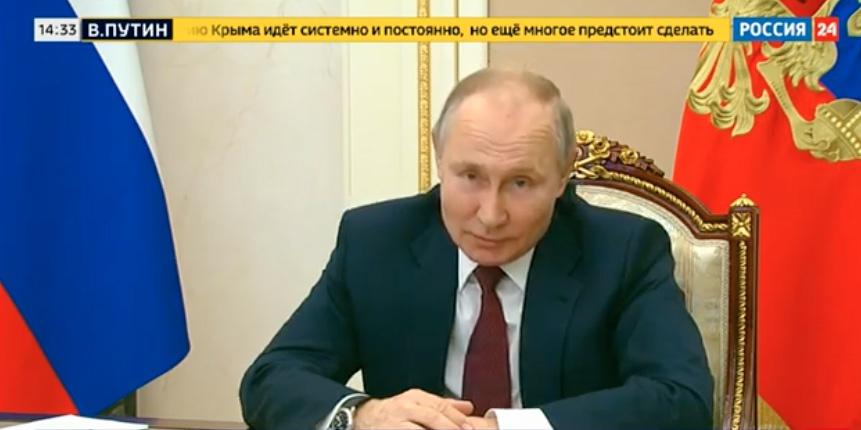 俄罗斯国家电视台24频道播出普京回应视频