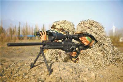 资料图:狙击训练 解放军报