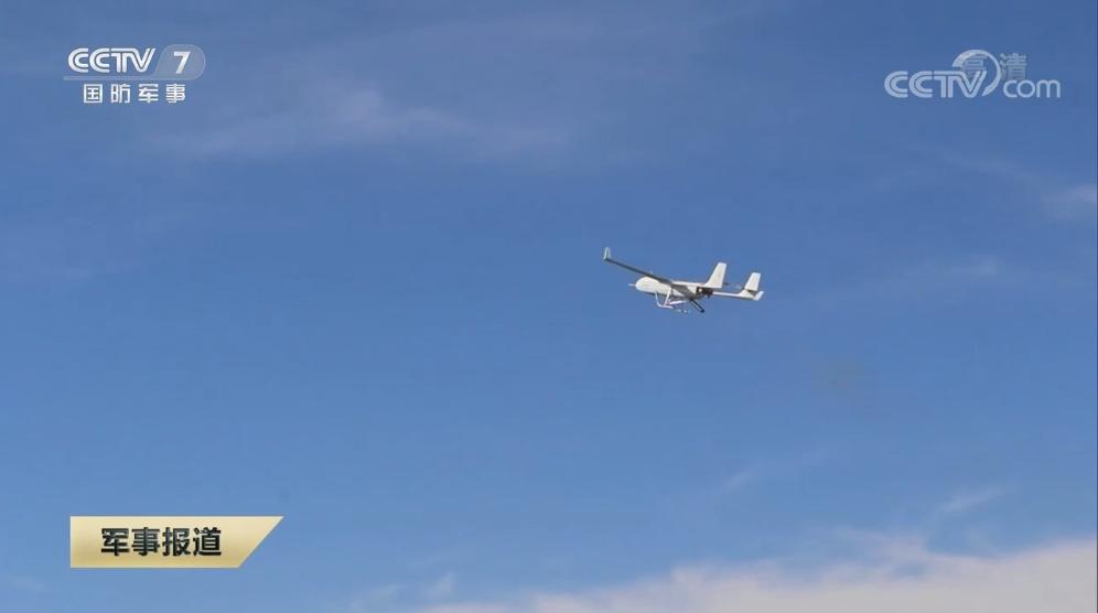 图片说明:该旅装备的新型无人机 央视截图