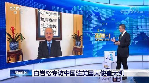 """崔天凯:抵制新疆棉花的企业开了一个""""很危险的口子"""""""