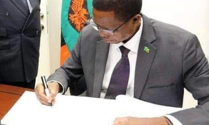 赞比亚总统伦古签署本国的网络安全法案