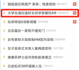 ▲某平台热搜榜单截图。