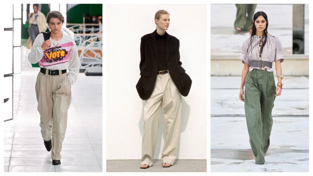 从左到右:Louis Vuitton/The Row/Chloé