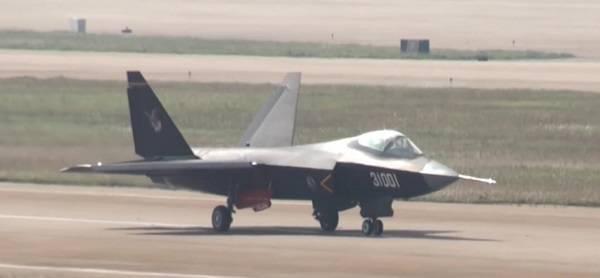 在2014年第十届中国国际航空航天博览会上现身的鹘鹰战斗机 图片来源:视频截图