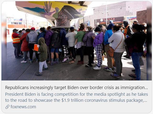 共和党因边境危机批评拜登。/福克斯新闻截图
