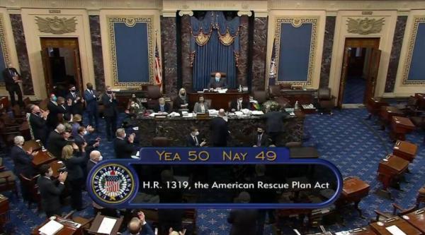 50比49!美参议院通过1.9万亿美元经济刺激计划